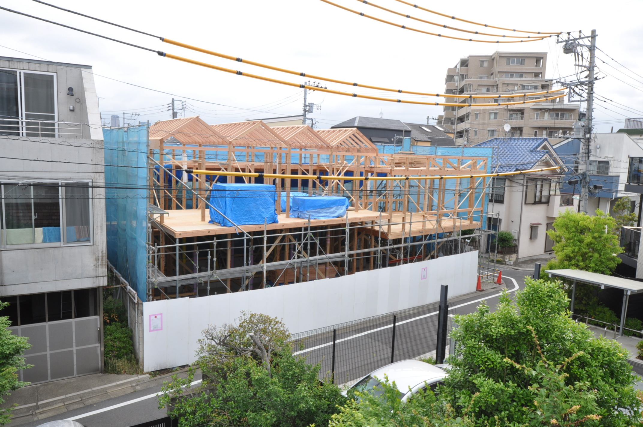 建て方4日目_鳥瞰.JPG
